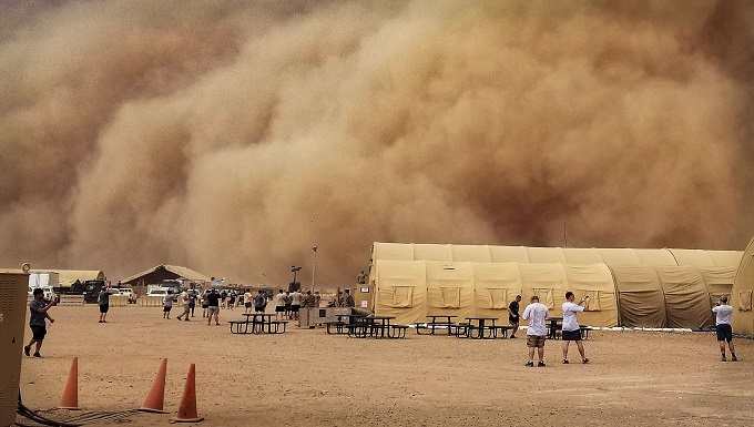 U.S. Air Force weather team preps for sand storms at Nigerien Air Base 201