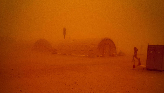 Airmen prep for sand storms in Agadez