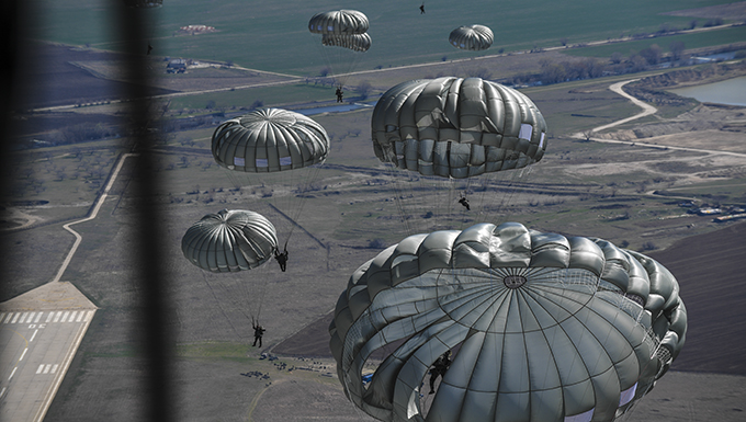 Bulgarian military, Ramstein Airmen conduct personnel drops